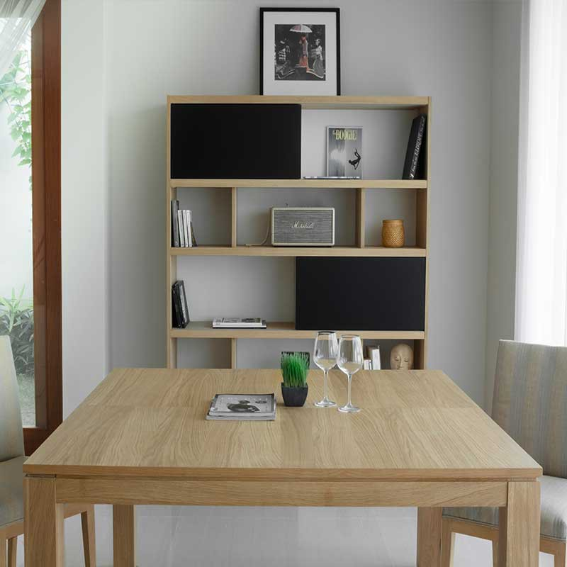 Table de salle manger extensible nathan 140 190cm for Table chene massif extensible