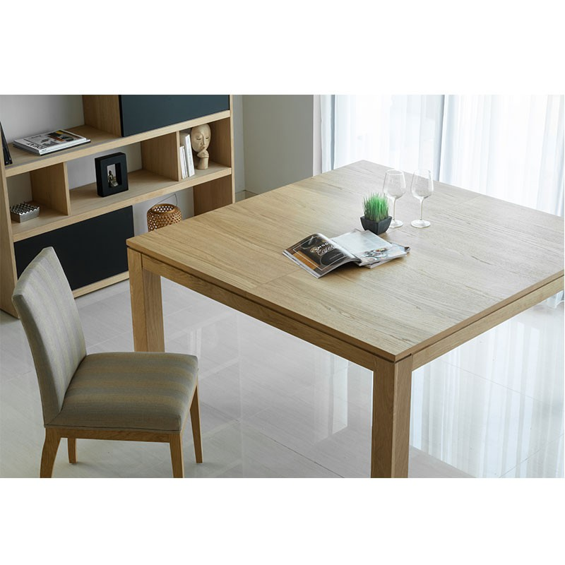 Table de salle manger extensible nathan ch ne massif for Table chene massif extensible