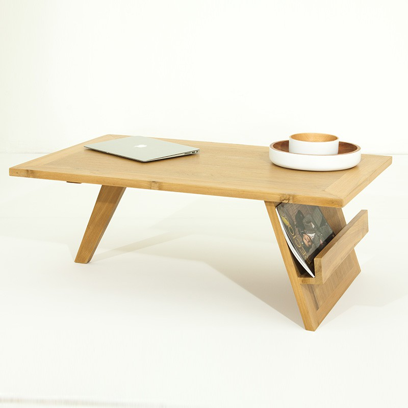 Table basse pokara beige for Table basse laquee beige