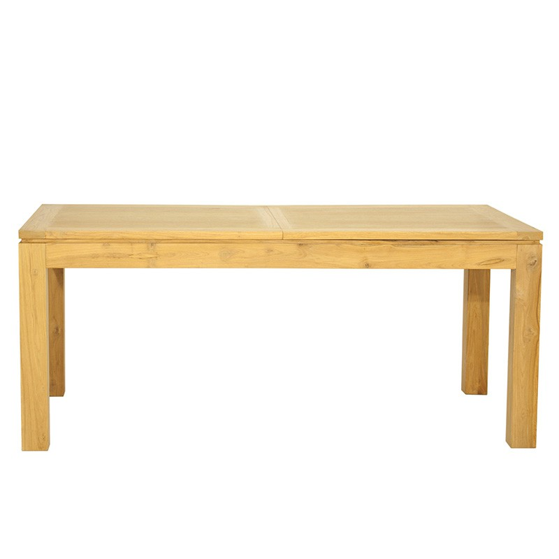 Table salle manger extensible mirissa teck massif for Table salle a manger teck