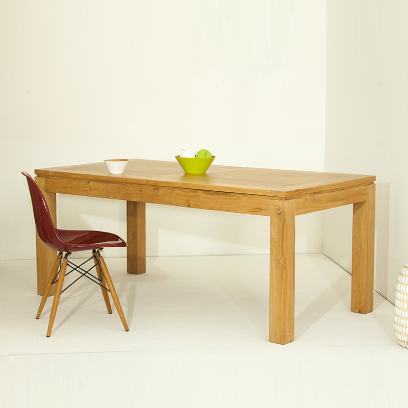 Table salle manger extensible mirissa teck massif for Prix table salle a manger