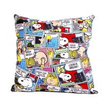 "Coussin Déhoussable ""Snoopy"" 40x40cm Multicolore"