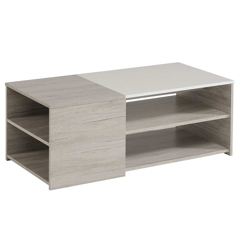 Table basse bellissimo gris for Table basse ceruse gris