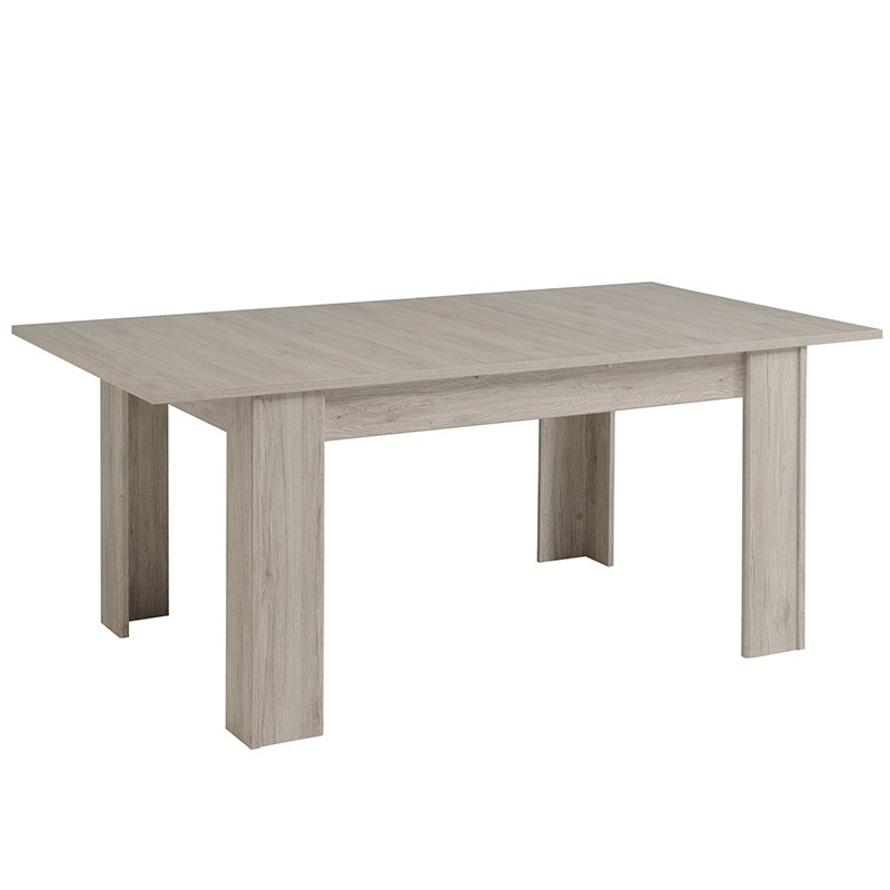 Table de salle manger extensible bellissimo 155 190cm gris for Table de salle a manger extensible design