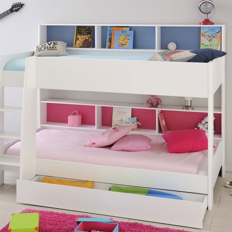 tiroir de lit enfant jaipur blanc. Black Bedroom Furniture Sets. Home Design Ideas