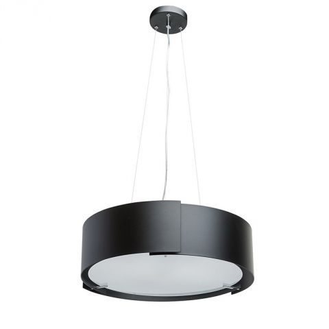 "Lampe Suspension Métal ""Rollo"" Noir"