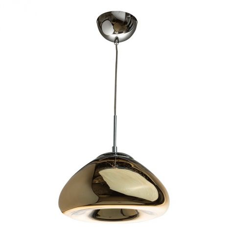 "Lampe Suspension Métal ""Majestic"" 30cm Or"
