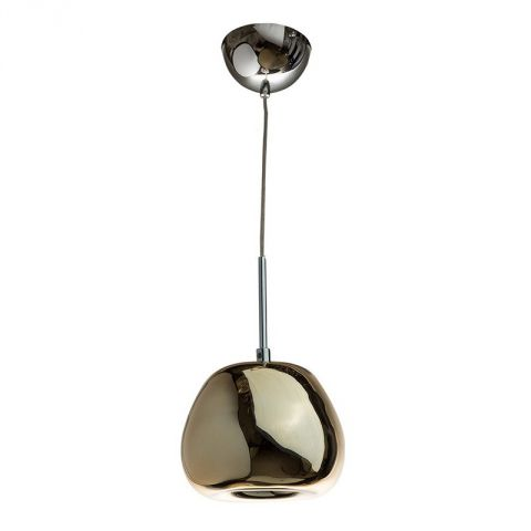 "Lampe Suspension Métal ""Majestic"" 15cm Or"
