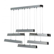 "Lampe Suspension Métal Modulable  ""Steel"" Argent"