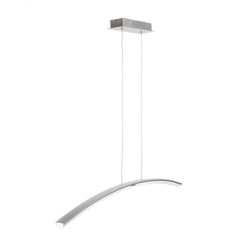 "Lampe Suspension Métal ""Twin"" Argent"