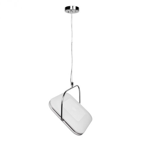 "Lampe Suspension Carré ""Cléo"" 50cm Blanc"