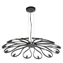 "Lampe Suspension ""Suna"" 84cm Noir"