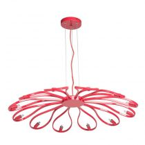 "Lampe Suspension ""Suna"" 84cm Rouge"