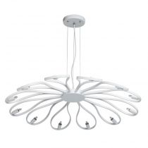 "Lampe Suspension ""Suna"" 84cm Blanc"