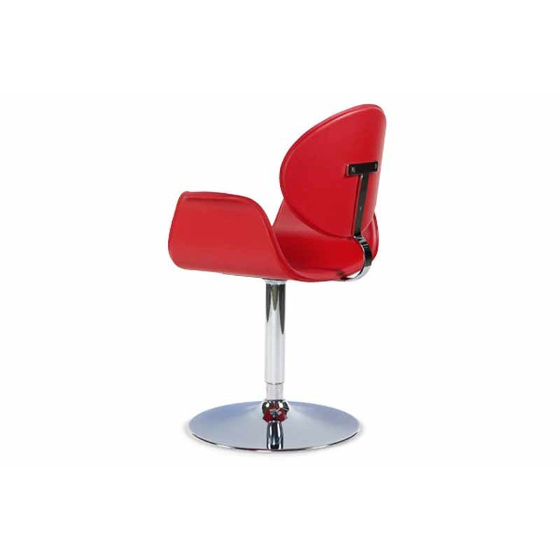 chaise design lady rouge