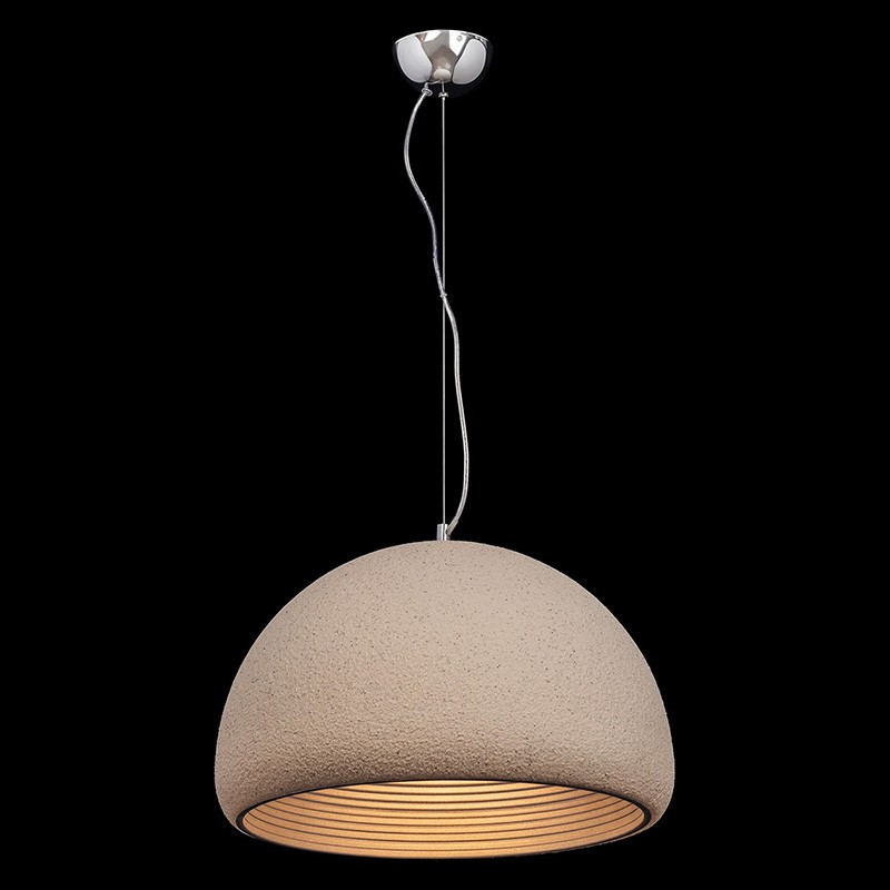 lampe suspension m tal pietra 52cm beige. Black Bedroom Furniture Sets. Home Design Ideas