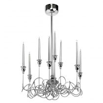 "Lustre Suspension Métal ""Candle"" Argent"