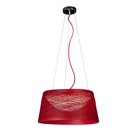 "Lampe Suspension ""Silky"" Rouge"