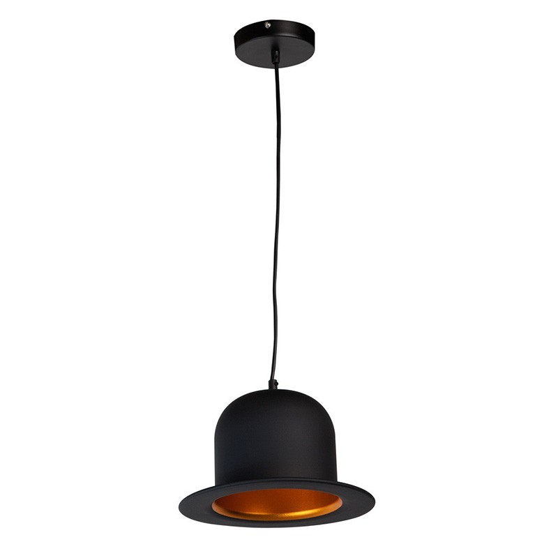lampe suspension m tal stetson 26 cm noir. Black Bedroom Furniture Sets. Home Design Ideas