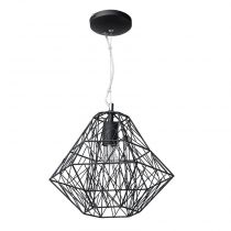 "Lampe Suspension Métal 36cm ""Webo"" Noir"