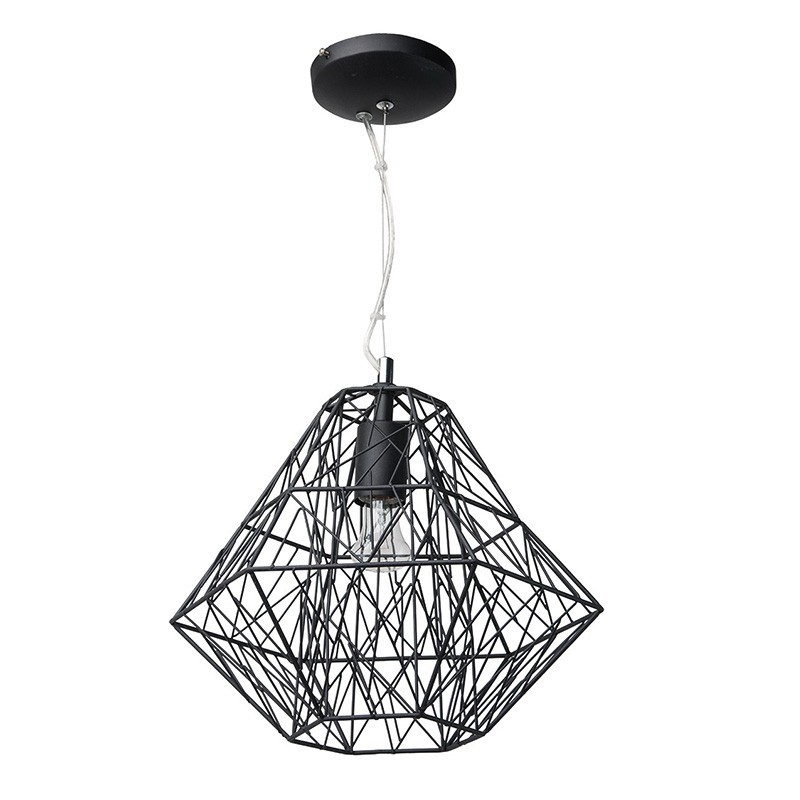 lampe suspension m tal 36cm webo noir. Black Bedroom Furniture Sets. Home Design Ideas