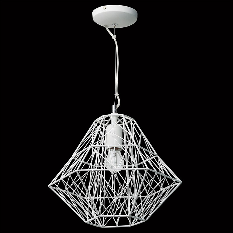 lampe suspension m tal 36cm webo blanc. Black Bedroom Furniture Sets. Home Design Ideas