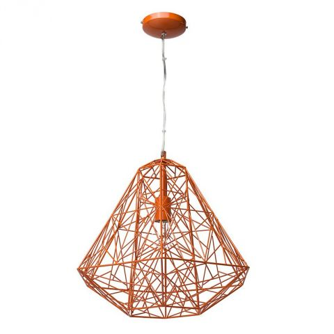 "Lampe Suspension Métal 49cm ""Webo"" Rouge"