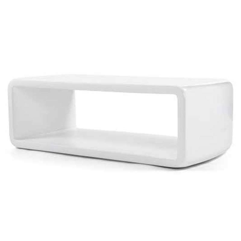 Table basse design stella blanche - Table basse gigogne blanche ...