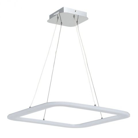 "Lampe Suspension LED ""Square"" 59cm Blanc"