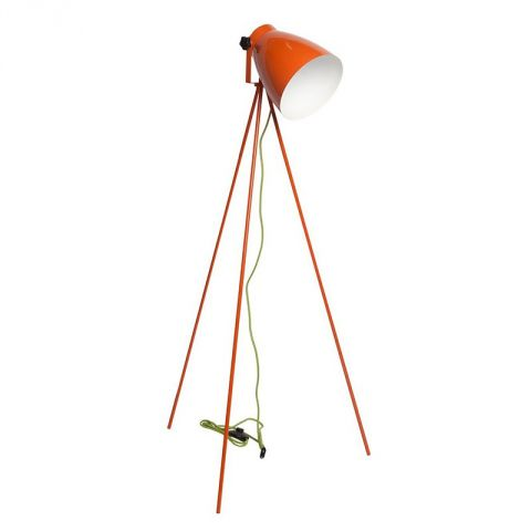 "Lampadaire Métal ""Pop"" 130cm Orange"