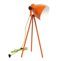 "Lampe à Poser Métal ""Pop"" 54cm Orange"