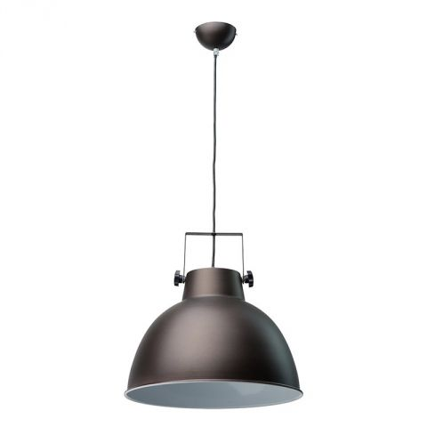 "Lampe Suspension Métal ""Pop"" 40cm Noir"