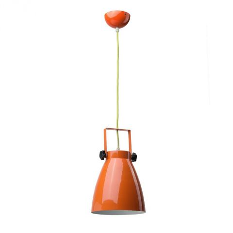 "Lampe Suspension Métal ""Pop"" 21cm Orange"