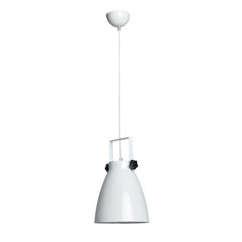 "Lampe Suspension Métal ""Pop"" 21cm Blanc"