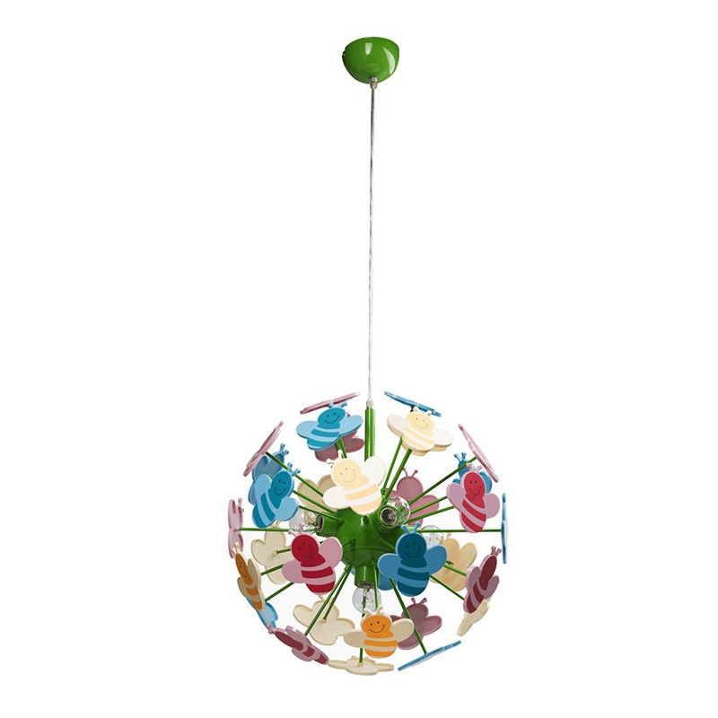 Lampe suspension enfant bees multicolore - Lampe suspension enfant ...