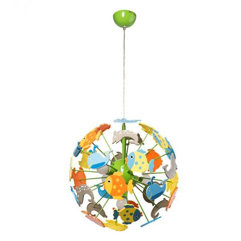 lampe suspension enfant fishy multicolore. Black Bedroom Furniture Sets. Home Design Ideas