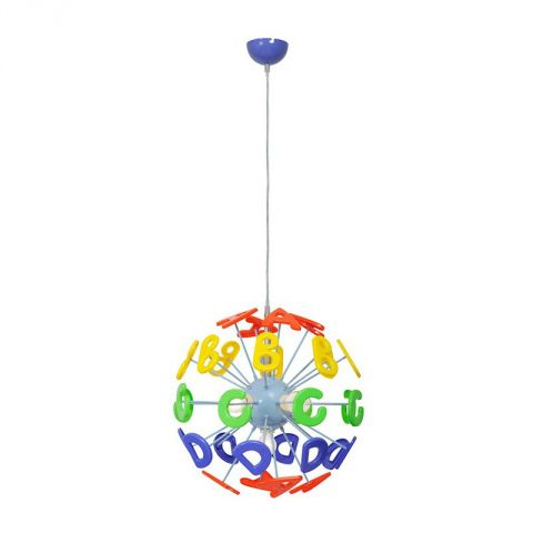 "Lampe Suspension Enfant ""Alphabet"" Multicolore"