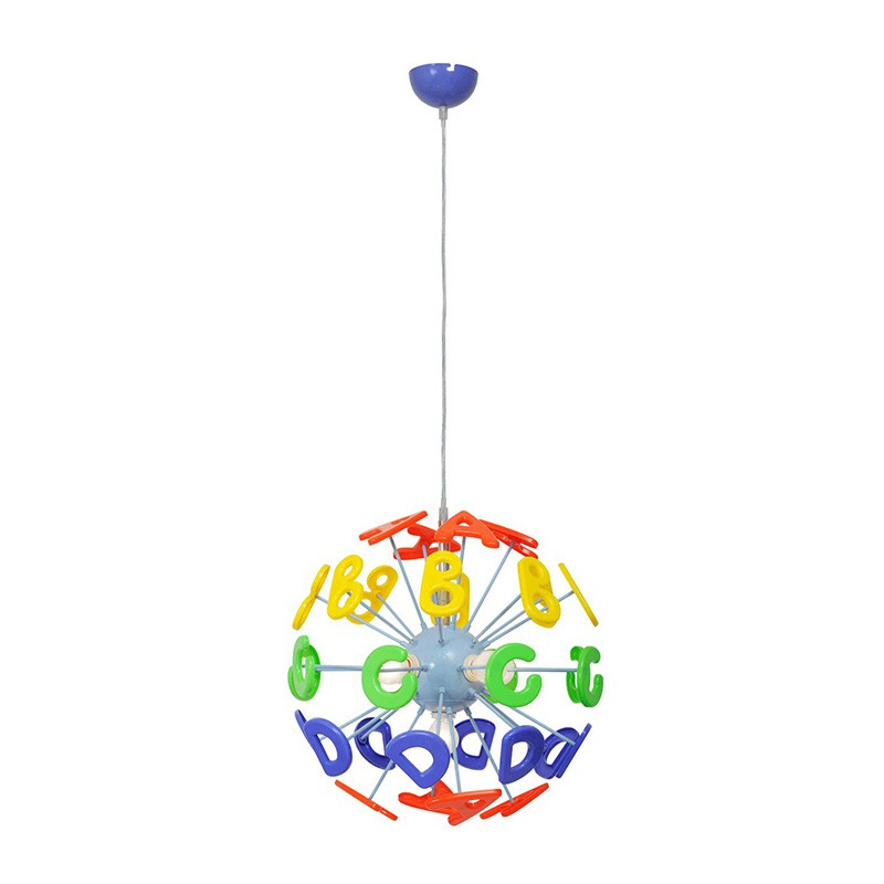 Lampe suspension enfant alphabet multicolore - Lampe suspension enfant ...