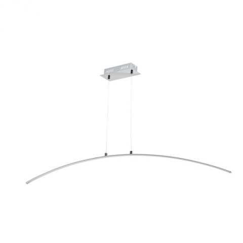 "Lampe Suspension Métal LED ""Curvy"" 118cm Blanc"