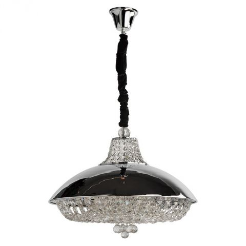 "Lampe Suspension Métal ""Alcor"" Argent"