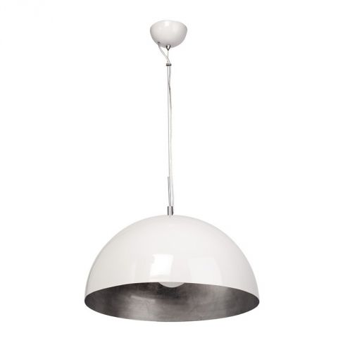 "Lampe Suspension Métal ""Salm"" Blanc"