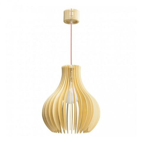 "Lampe Suspension Bois ""Dana II"" Beige"