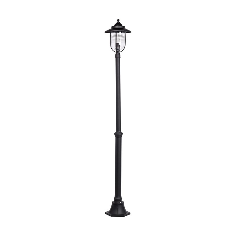 lampadaire ext rieur bakura 190cm noir. Black Bedroom Furniture Sets. Home Design Ideas