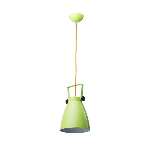 "Lampe Suspension Métal ""Pop"" 21cm Vert"