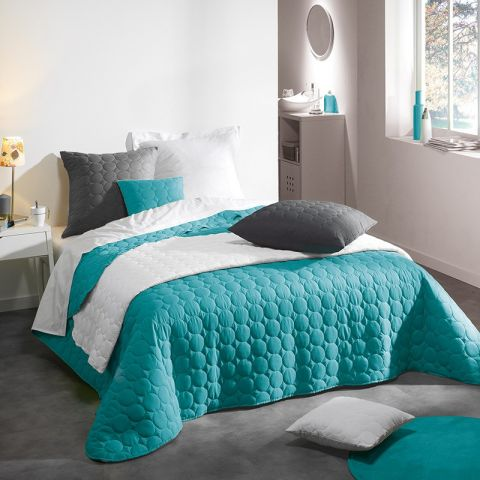 Couvre Lit Matelasse Candy 220x240cm Turquoise