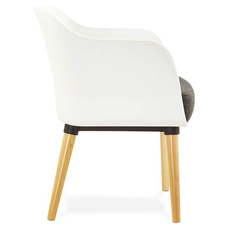 fauteuil design scandinave bergen blanc. Black Bedroom Furniture Sets. Home Design Ideas