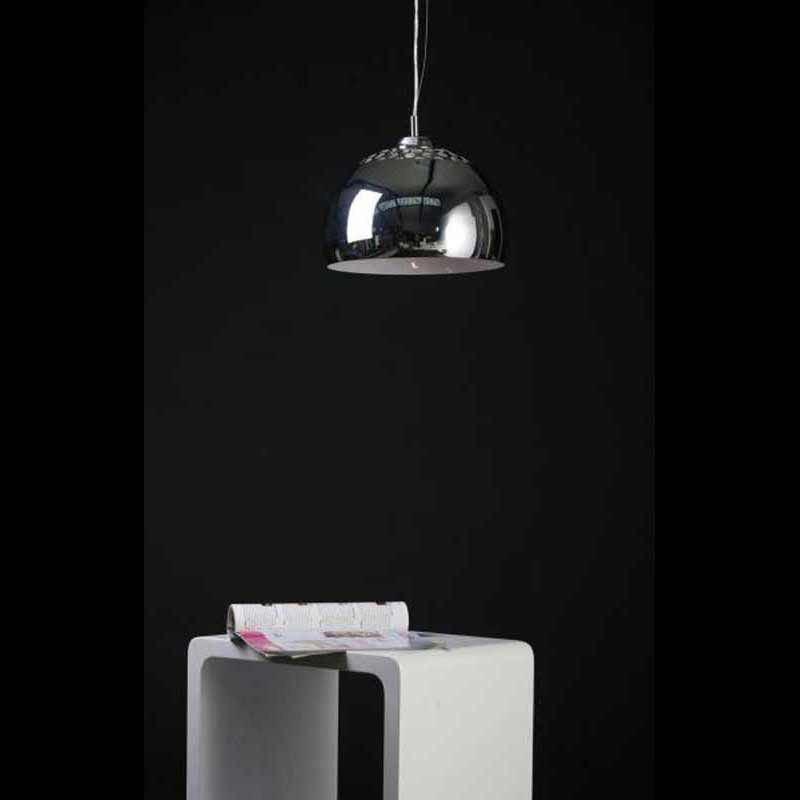 Lampe suspension loft chrome for Suspension de lampe