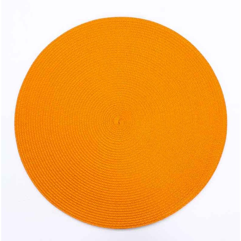Set de table rond orange for Set de table rouge rond