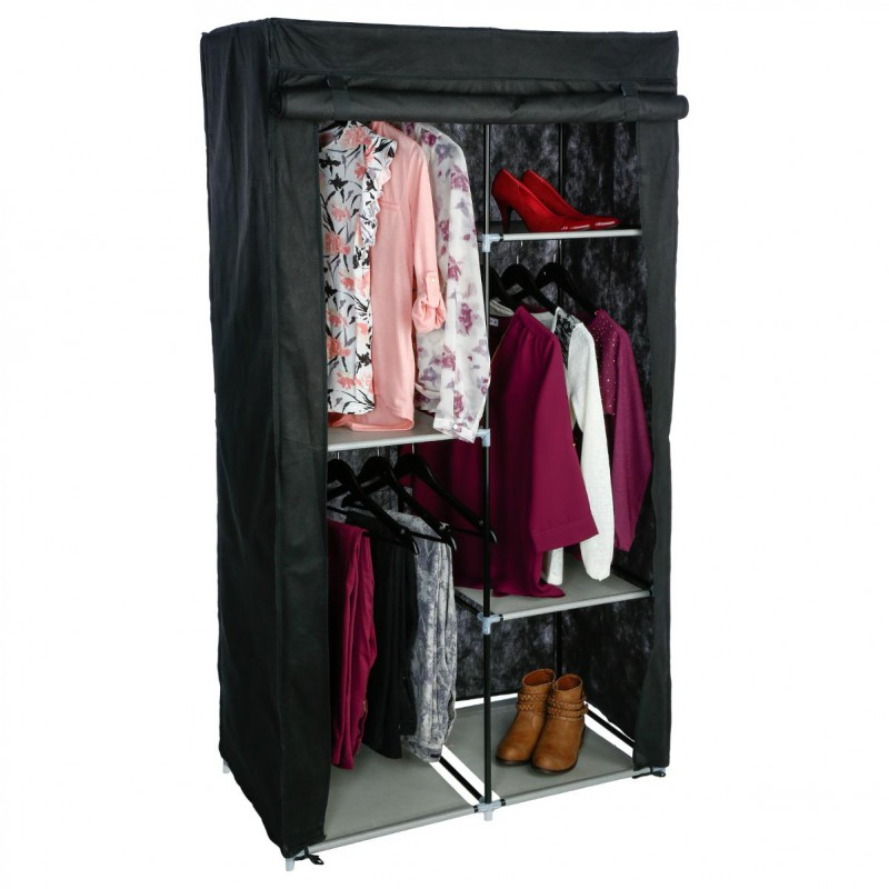armoire dressing modulable noir. Black Bedroom Furniture Sets. Home Design Ideas