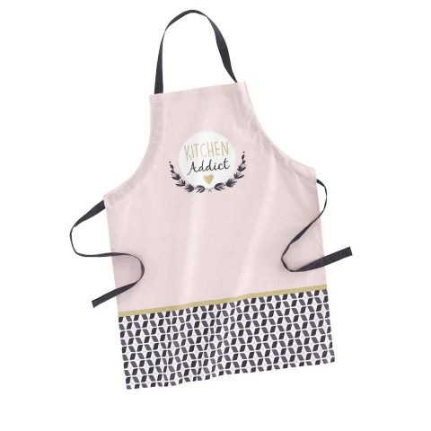 "Tablier de Cuisine ""Kitchen Addict"" 84cm Rose"